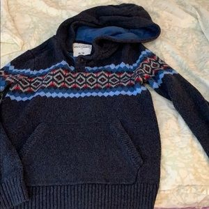 Hooded sweater runs small